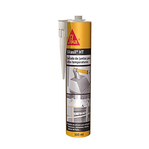 Sikasil HT, Gris, Masilla silicona neutra, Masilla lista para su empleo resistente a la altas temperaturas hasta 325°C, 300ml