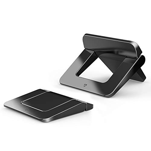 DESON 2 Pieces Mini Laptop Stand for Desk Invisible Foldable Laptop Riser Anti-Slide Portable Laptop Holder for MacBook, Air, Pro, Tablets and Laptops Keyboard