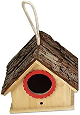 310 2016 Large Manor Birdhouse RED