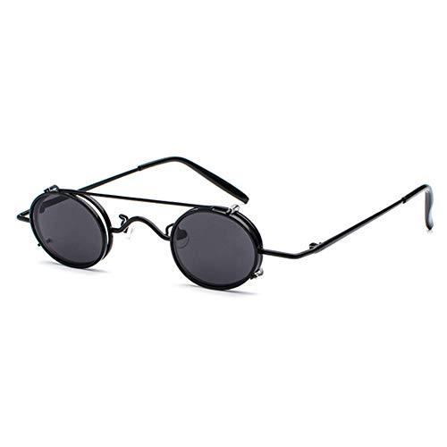 ZRTYJ Sonnenbrillen Kleine Runde Steampunk Sonnenbrille Männer Frauen Retro Metall Steam Punk Sonnenbrille Für Männer Vintage Gothic