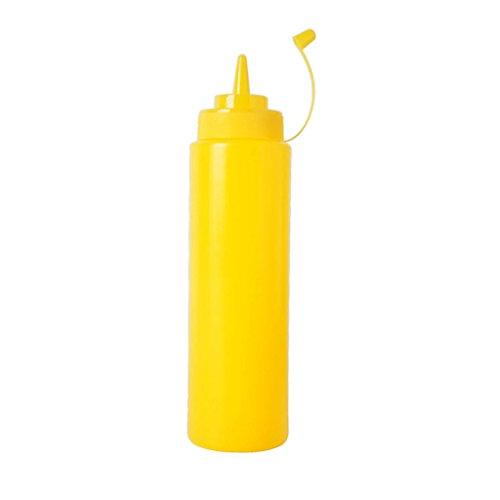 Kunststoff-Spritz Flasche Ketchup Senf Sauce Essig Spender - Gelb, 240ml