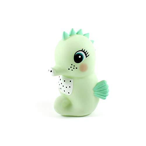 LED Nachtlicht Seepferdchen POLLY mint - LED Schlummerlicht - BPA und Phthalat frei - inkl. Batterien - Abschaltautomatik - Kinderzimmer Babyzimmer Deko