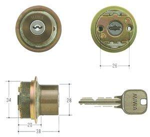 MIWA(美和ロック) U9シリンダー LIXタイプ 鍵 交換 取替え MCY-127 TE0/LIXセラミックブロンズ色(CB)33〜42mm