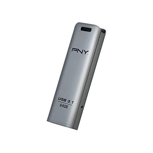 PNY Memoria USB Elite Steel 3.1 64GB, Metal