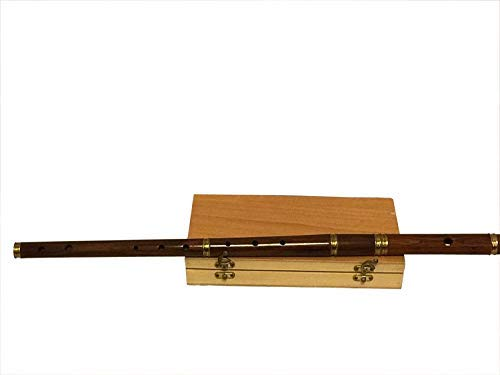 Natural Finish Professional - Flauta en D irlandesa con funda de transporte de madera