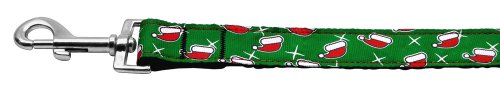 Mirage Pet Products hondenhalsband met kerstmuts, nylonband, 2,5 cm breed, 1,2 m lang