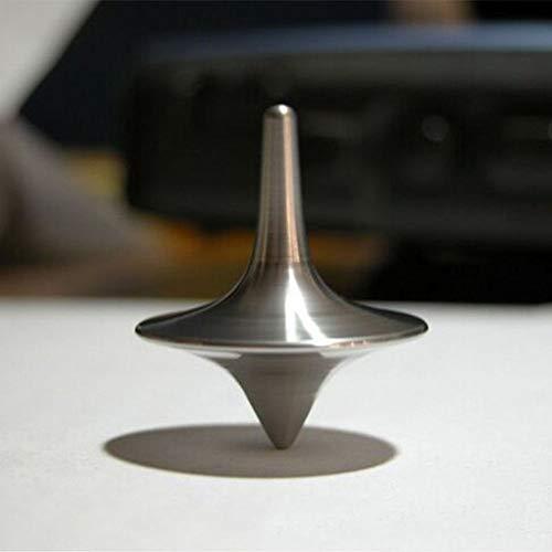 MZY1188 Dessus de Rotation en métal,Gyroscope Wonder Haut très précis en Spinning Silver Haut Spinning à imprimé Totem