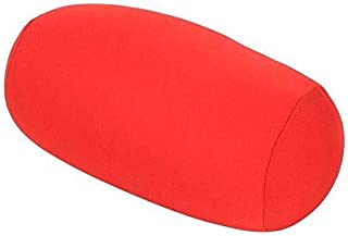 Almohada cilíndrica Lavable Almohada Enrollable Cuello Cervical Redondo Soporte para la Espalda Almohadilla Lumbar Refuerzo de la Pierna para el Soporte del Cuello (Red)
