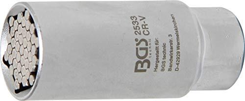 BGS 2533 | Multi-Steckschlüssel-Einsatz | 10 mm (3/8 Zoll) | universal | SW 9-21 mm