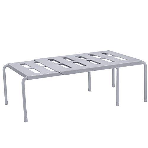 Organizador Hulisen ajustable y extensible con 2 paneles y 6 pies extraíbles. Para zapatos o como estante de cocina