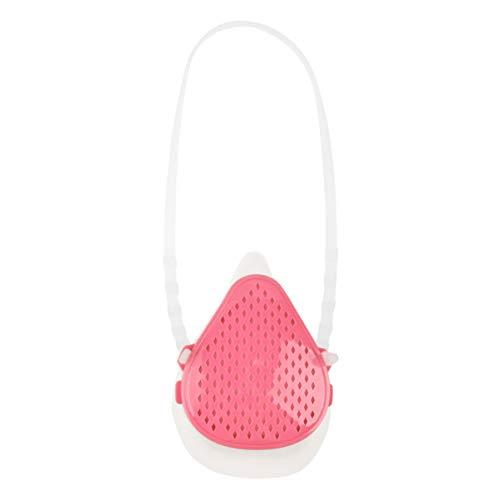 Exceart 1 Stück Silikonmaske Austauschbare Filtermaske Smogfeste Staubdichte Maske mit 2 Stück Ersatzfilter (Pink)
