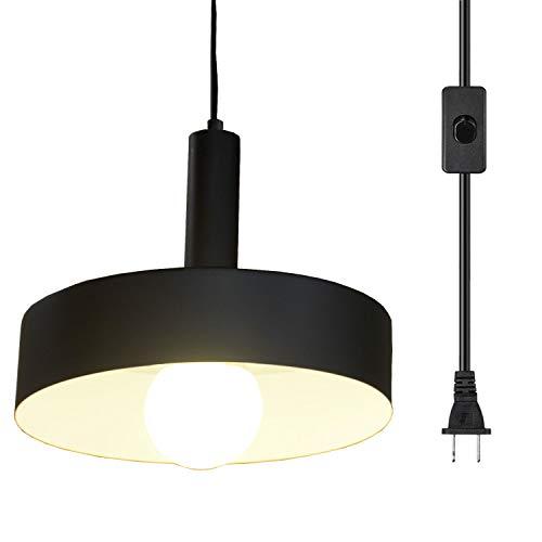Ganeed Plug in Pendant Lights,Industrial Vintage Hanging Lamp, Swag...