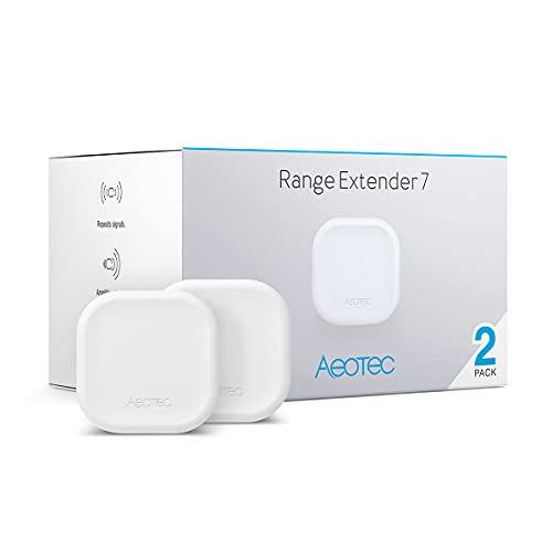 Aeotec Range Extender 7 Zwave Repeater Work with Zwave Hub SmartThings Fibaro (Two Pack)