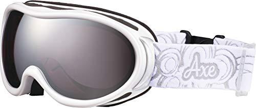 AXE(アックス) スキー レディース ゴーグル 偏光レンズ・ヘルメット対応・メガネ対応・ダブルレンズ・ノーズフィット・UVプロテクション パールホワイト AX595WMD