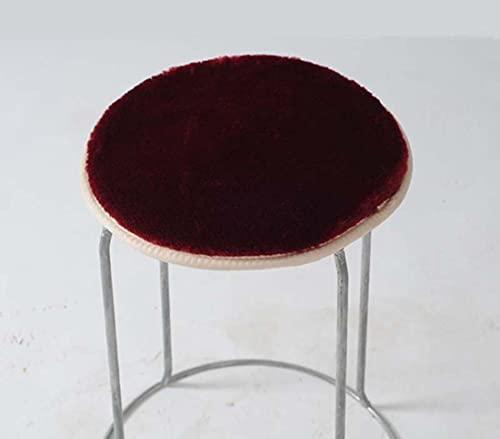 KingMSPG - Cuscino per sedia da pranzo, antiscivolo, per interni ed esterni, in caldo peluche, per casa, ufficio, cucina (45 x 45 cm, B-Wine rosso)