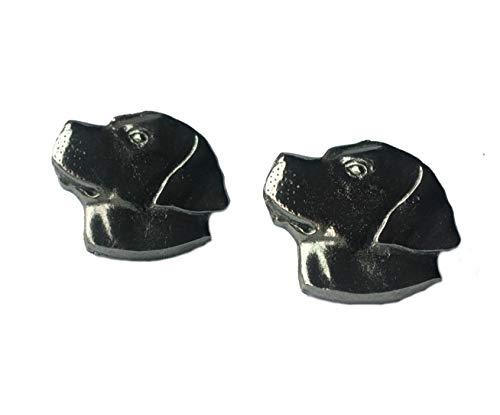 Fabriqué en étain anglais Boutons de manchette de tête de Labrador (X2TSBCA04)