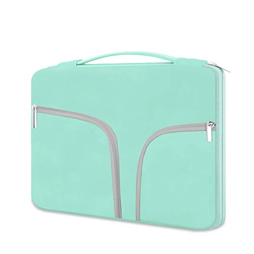 HESTECH Chromebook Case, 11.6-12.3 inch Neoprene Laptop Sleeve Case Bag Handle Compatible with Acer Chromebook r11/HP Stream/Samsung/Dell/ASUS C202 L210/Microsoft Surface Pro 7/3/4/5/6,Mint Green -  B11C2/LZLFBA-KT