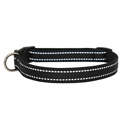 AiShuiJiao Collar Perro, Collar de Perro Duradero Reflectante, Ajustable Transpirable Nylon Collar Perro con Suave Acolchados para Perros Pequeños Grandes Medianos