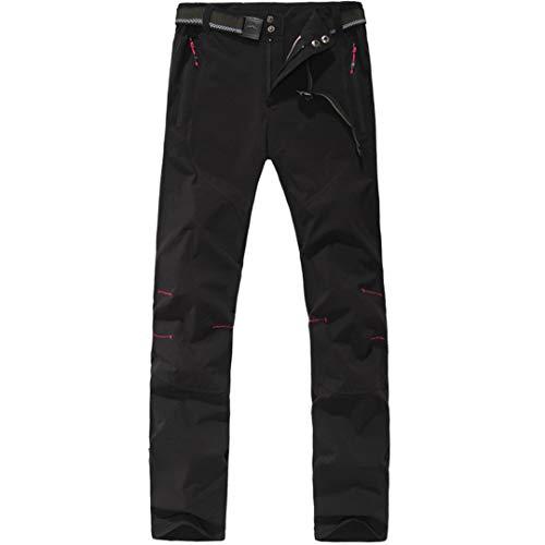Drying Den Pantalons pour Hommes Pantalons de randonnée d'été Pantalons de séchage Rapide pour Femmes Pantalons d'escalade pour Femmes Pantalon de Sport Respirant Women Black S