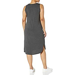 Amazon Brand – Daily Ritual Women's Plus Size Jersey Sleeveless V-Neck Dress