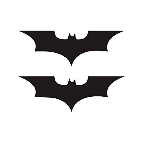 Tragbarer Treteimer abnehmbare Deckel Ist Autoaufkleber Lustiger 2 X Mode Superheld Batman Automobile Motorräder Exterior Zubehör Reflektierende Vinyl-Abziehbilder, 10cm * 3cm Hanging Abfalleimer Klap