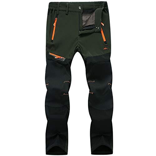 LUI SUI Pantalones para Caminar para Hombres Pantalones de Trabajo de Escalada para Acampar al Aire Libre Pantalones de Senderismo Softshell