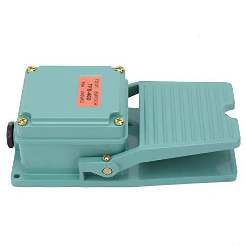 Jeanoko Interruptor de Pedal Interruptor de CA Interruptor de Control de pie TFS-402 250V 15A Interruptor de Pedal Interruptor Antideslizante de Pedal para Dispositivo de Soldadura para