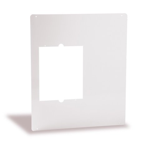 Cadet Adapter Plate for Com-Pak Heaters (Model: CAMW), 18.5 x 22 in, White