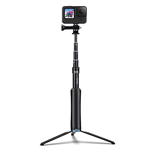 Selfie Stick for GoPro, CamGek [Upgraded Version] Extension Pole w/Stand & Live View Function, Sturdy GoPro Tripod Waterproof Monopod for GoPro Hero9/8/Max/7/6/5/4/Osmo Action and Others
