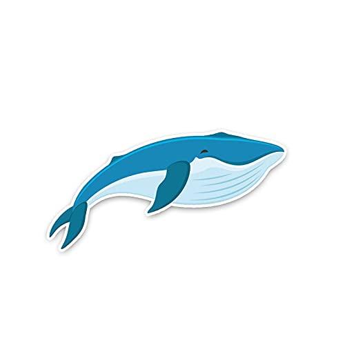 YLZH 13.7x7cm Enorme relajarse tranquilo ballena pvc animal popular etiqueta de calcomanías calcomanías