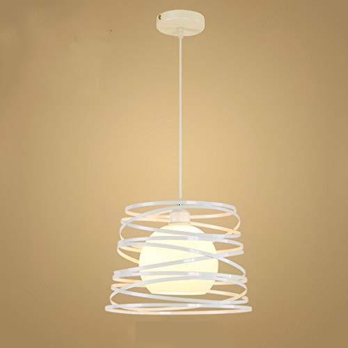WEM Candelabro - Lámpara colgante led minimalista nórdica Lámpara de araña de un solo cabezal de estudio de restaurante de hierro forjado (30Cm * 23Cm),B,Luz calida