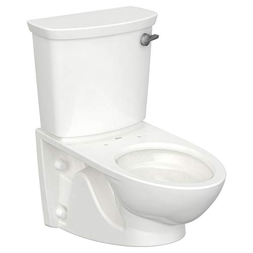 American Standard 2882108.020 Glenwall VorMax Wall-Hung Elongated Toilet with Right Hand Trip Lever, 1.28 gpf, White