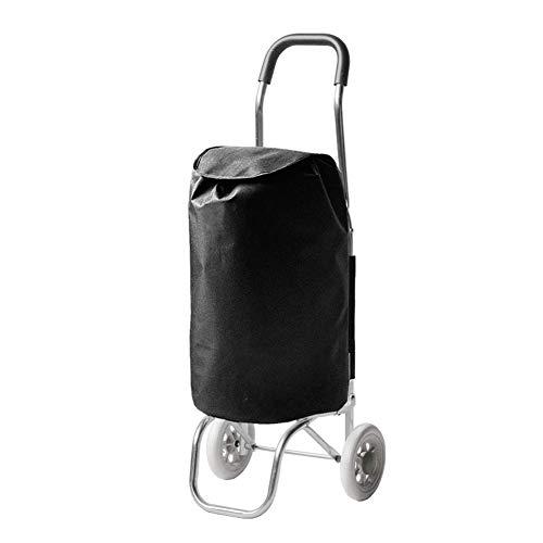 Chariot pour Courses Pliable De Voyage Poids Léger Durable Tissu Oxford Imperméable Capacité du Paquet 35L, 36 X 30 X 86cm, 4 Couleurs (Couleur : Noir)