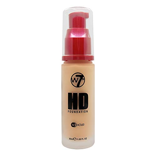 W7 | Foundation | HD Foundation - Early Tan | Light to Medium Coverage, Lightweight and Long Lasting