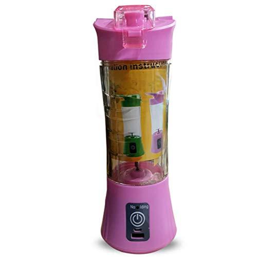 IW.HLMF Mezclador eléctrico USB Taza de Jugo portátil Mini Mini exprimidor Máquina de Jugo multifunción Baibao (Color: Rosa)