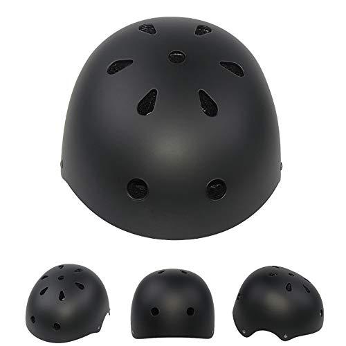 Fietshelmen Boys, Veiligheid Beschermende Helm Bicycle Inline Skate Scooter Helm Verstelbare Comfortabele Lichtgewicht Helm Voor Jongens En Meisjes,Black,S(48~54CM)