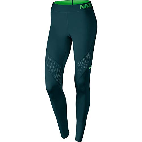 Nike Pro Hypercool Tight Damen XL Turquesa (Midnight Turq/Lt Green Spark)