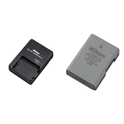 Nikon MH-24 - Cargador para Cámara Digital + EN-EL14a Lithium-Ionen-Rechargeable Battery