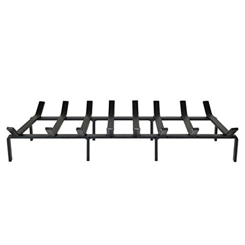 SteelFreak Heavy Duty Steel Fireplace Grate - Made in The USA (36-Inch)