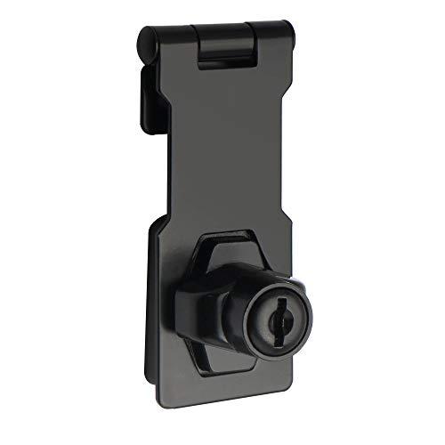 Sayayo EMS1100B-3C - Cerrojo de alta seguridad para puerta de 7,6 cm, 2 llaves incluidas, acabado negro claro