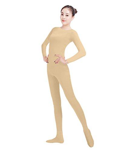 NiSeng Erwachsener und Kind Ganzkörperanzug Kostüm Lange Ärmel Bodysuit Kostüm Zentai Offene Bodysuit Kostüm Teint L