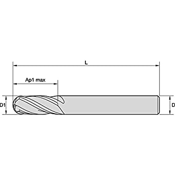 Carbide WIDIA Hanita I4S0187T075L VariMill I4S GP Roughing//Finishing End Mill 0.1875 Cutting Dia 0.75 LOC RH Cut TiAlN Coating 4-Flute