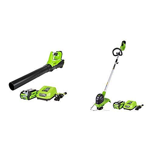 New Greenworks 40V 115 MPH - 430 CFM Cordless Brushless Blower, 2.0 AH Battery Included BA40L210 wit...