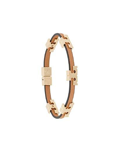 Tory Burch Women's Serif-T STackable Bracelet Tory Gold / Coconut / Vachetta