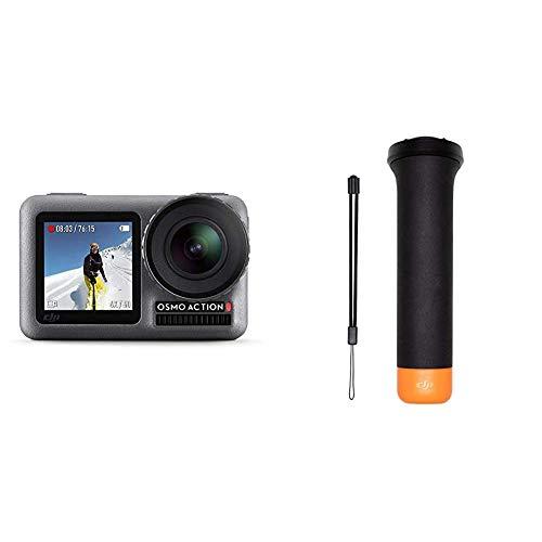 DJI Osmo Action Cam Digitale Actionkamera mit 2 Bildschirmen 11m wasserdicht 4K HDR-Video Winkelobjektiv Kamera & Osmo Action Part 13 (Rutschfester Griff, damit der Osmo Action im Wasser schwimmt)