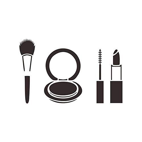 Schoonheid Vinyl Muursticker Make-up Lippen Lippenstift Schoonheidssalon Shop Stickers Muurschildering Verwijderbare Kunst muurschildering Slaapkamer Decor 34X42Cm