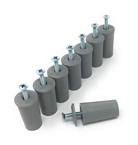 Anschlagpuffer Stopper für Rollladen 40 mm - 8 Stück - grau