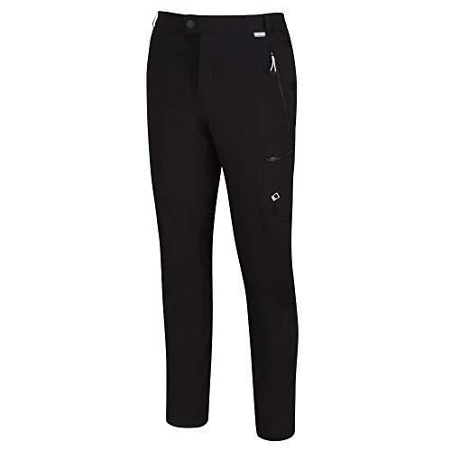 Regatta HIGHTON Winter Trousers Hose Stretch Ultra Stretch Herren wasserabweisend und Schutz (UV) mit elastischem Bund und Reißverschlusstaschen, Schwarz, Hersteller: 32 Zoll