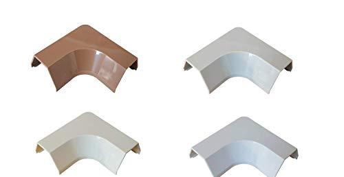 Verbinder Typ 'L' passend für Kabelkanal 15x10mm (Innenmaß), Farbe:Hellbraun Meliert