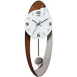 Pendulum Wall Clock Silent Non Ticking Clocks and Clocks Living Room Clock Modern European Style Wall Clock Art Pendulum Clock Simple Fashion Personality Mute Clock